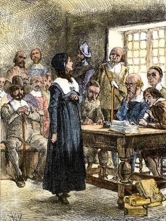Anne Hutchinson Sentenced to Be Banished from Massachusetts Bay Colony 1637 & Anne Hutchinson Sentenced to Be Banished from Massachusetts Bay ...