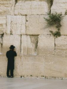 A Jewish Man Stands at the Northern Section of the Wailing Wall by Anne Keiser