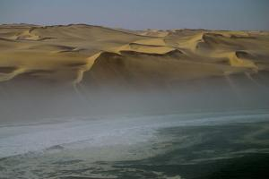 Fog Lines the Skeleton Coast of Namibia Where Sand Dunes Meet the Sea by Anne Keiser