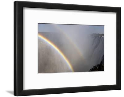 Rainbows Form in the Spray over Victoria Falls, Zambia