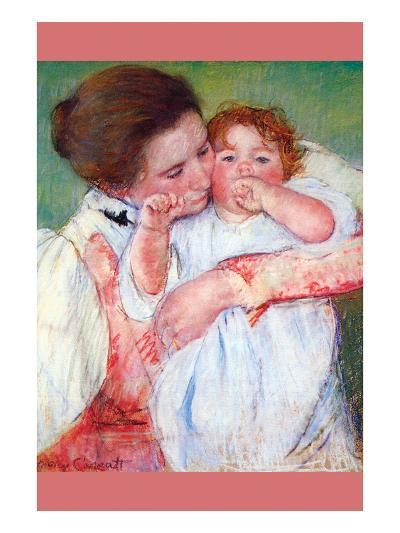 Anne Klein, from the Mother Embraces-Mary Cassatt-Art Print