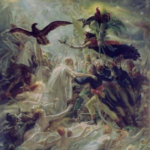 Apotheosis of the French Heroes Who Died for their Country During the War for Freedom by Anne-Louis Girodet de Roussy-Trioson