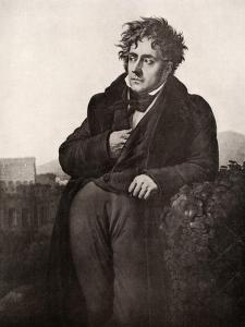 Francois-Rene, Vicomte De Chateaubriand, French Writer and Diplomat, Early 19th Century by Anne-Louis Girodet de Roussy-Trioson