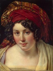 Head of a Woman in a Turban, Ca 1820 by Anne-Louis Girodet de Roussy-Trioson