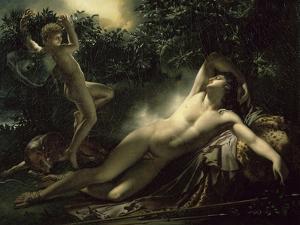 Le Sommeil D'Endymion by Anne-Louis Girodet de Roussy-Trioson
