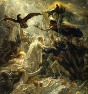 Ossian Receives Heroes of the Republic, c.1801 by Anne-Louis Girodet de Roussy-Trioson