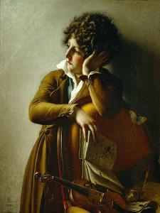 Portrait du jeune Romainville Trioson. Canvas, 73 x 59 R. F. 1991-13. by Anne-Louis Girodet de Roussy-Trioson
