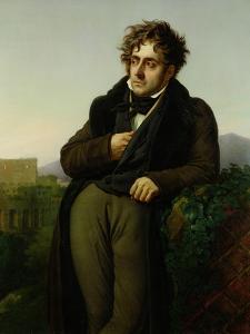 Portrait of Francois Rene (1768-1848) Vicomte De Chateaubriand, 1811 by Anne-Louis Girodet de Roussy-Trioson