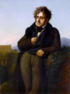Portrait of François-René, Vicomte De Chateaubriand (1768-184) by Anne-Louis Girodet de Roussy-Trioson