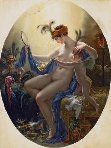 Portrait of Mlle, Lange as Danae, 1799 by Anne-Louis Girodet de Roussy-Trioson