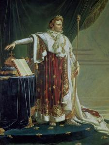 Portrait of Napoleon I in His Coronation Robes, 1804 by Anne-Louis Girodet de Roussy-Trioson