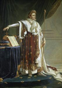 Portrait of Napoleon I in His Coronation Robes by Anne-Louis Girodet de Roussy-Trioson