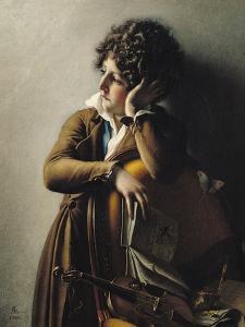 Portrait of Romainville-Trioson, 1800 by Anne-Louis Girodet de Roussy-Trioson