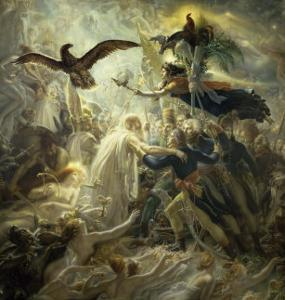 The Shadows of the French Warriors Led by Victory by Anne-Louis Girodet de Roussy-Trioson