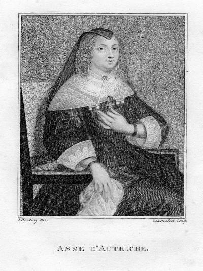 Anne of Austria, 19th Century- Scheneker-Giclee Print