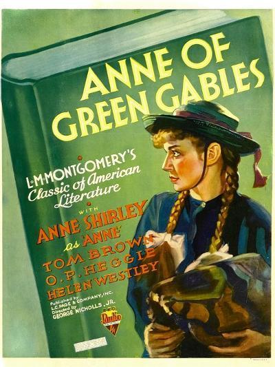 Anne of Green Gables, Anne Shirley, 1934--Art Print