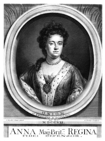 Anne, Queen of Great Britain and Ireland-George Vertue-Giclee Print