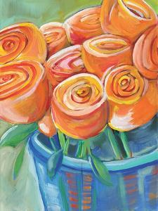 Orange Roses by Anne Seay