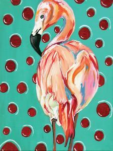 Polka Dot Flamingo by Anne Seay