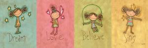 Dream, Love Believe and Sing Panel by Anne Tavoletti