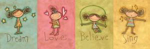 Dream Love Believe Sing Panel v3 by Anne Tavoletti