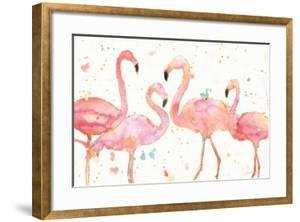 Flamingo Fever I by Anne Tavoletti