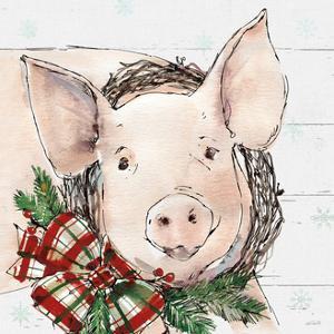 Holiday on the Farm VII on Gray by Anne Tavoletti