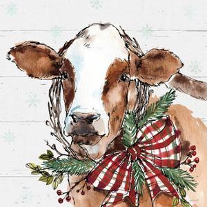 Holiday on the Farm VIII on Gray by Anne Tavoletti