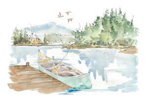 Lakehouse I on White by Anne Tavoletti