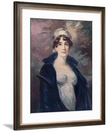 Anne, the Wife of Lieutenant Colonel Hamilton, C1805-John James Masquerier-Framed Giclee Print
