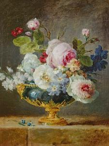 Flowers in a Blue Vase, 1782 by Anne Vallayer-coster