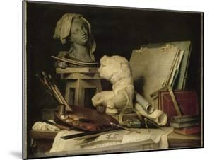 Les Attributs de la peinture, de la sculpture et de l'architecture by Anne Vallayer-coster