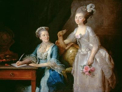 Portrait of an Elderly Lady with Her Daughter