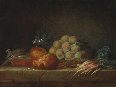 Still Life with Brioche, Fruit and Vegetables, 1775