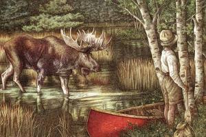 Red Canoe by Anne Yvonne Gilbert