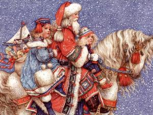Santa and Children by Anne Yvonne Gilbert