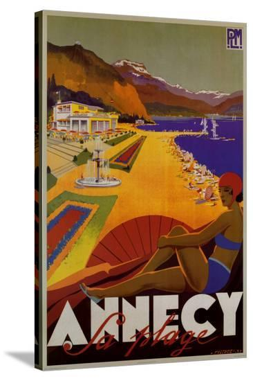 Annecy Sa Plage-Robert Fallucci-Stretched Canvas Print