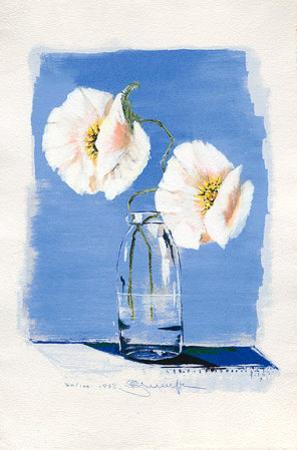Blumen in Glasvase