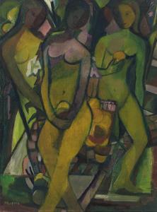 Girls in Orange Grove, C.1945-50 by Anneliese Everts