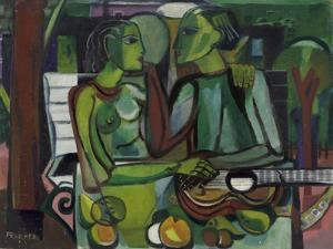 Lovers in a Garden, C.1945-50 by Anneliese Everts