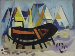 Shipwreck and Sailing Boats, C.1950 by Anneliese Everts