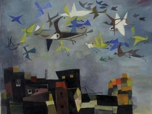 The Birds are Coming II, C.1955 by Anneliese Everts