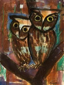 Two Owls by Anneliese Everts
