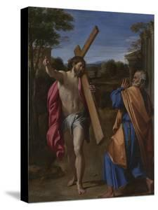 Christ Appearing to Saint Peter on the Appian Way (Domine, Quo Vadis), Ca 1602 by Annibale Carracci