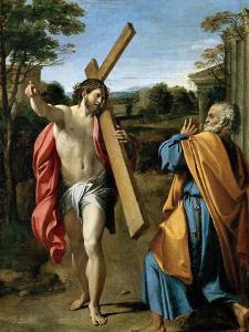 Domine, Quo Vadis?, C. 1602 by Annibale Carracci