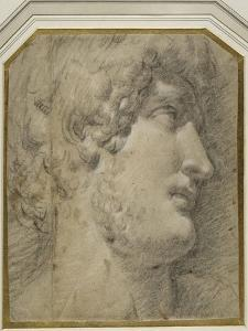 Head of the Emperor Gallienus (Or ?Hadrian), after the Antique by Annibale Carracci