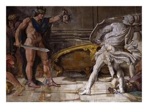 Perseus Holding Up Head of the Gorgon Medusa, from Loves of the Gods Frescos by Annibale Carracci