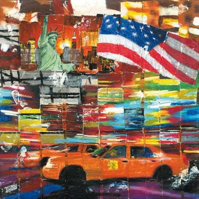 New York, 2 Taxis et Drapeau