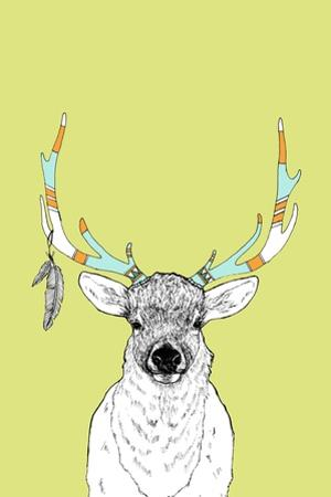 Elk & Feathers by Annie Bailey Art