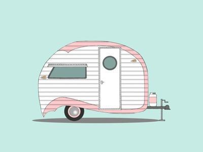 Pink Stripe Teardrop by Annie Bailey Art